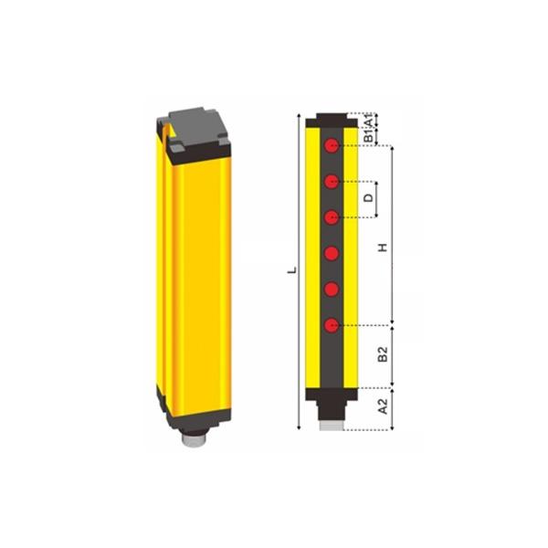 超高频RFID 测高光栅门