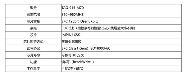 超高频仓储用RFID电子标签TAG-915-M70,RFID仓储标签,RFID抗金属标签