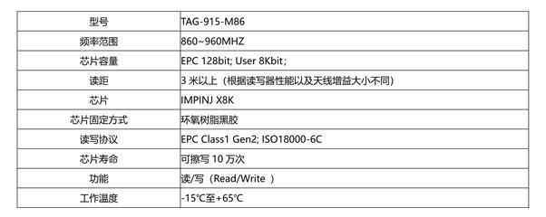 超高频仓储用RFID电子标签TAG-915-M86,RFID仓储标签,RFID工业标签